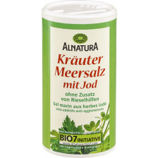 Alnatura Bio Kräutersalz mit Jod 200G