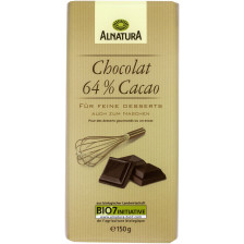 Alnatura Bio Chocolat 64% Cacao 150G