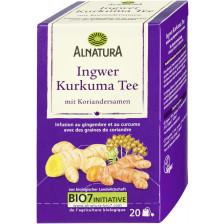 Alnatura Bio Ingwer Kurkuma Tee mit Koriandersamen 20x 2G