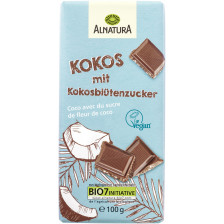 Alnatura Bio Kokos-Schokolade mit Kokosblütenzucker 100G