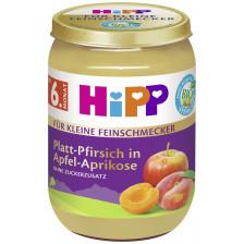 Hipp Bio Für Kleine Feinschmecker Platt-Pfirsich in Apfel-Aprikose ab 6.Monat 190G