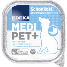 EDEKA Medi Pet+ Schonkost Huhn pur mit Steckrübe 150G