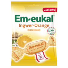 Em-Eukal Ingwer- Orange Hustenbonbons zuckerfrei 75 g