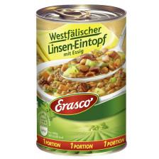 Erasco 1 Portion Westfälischer Linsen-Eintopf mit Essig 400G