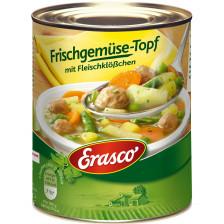 Erasco Frischgemüse-Topf mit Fleischklößchen 800G