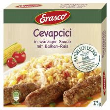 Erasco Cevapcici in würziger Sauce mit Balkan-Reis 375G