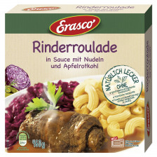 Erasco Rinderroulade in Sauce mit Nudeln & Apfelrotkohl 460G