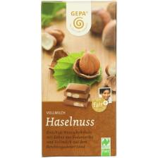 GEPA Bio Vollmilch Haselnuss Schokolade 100 g