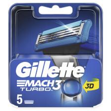 Gillette Mach3 Turbo Rasierklingen 5 Stück