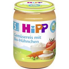 Hipp Bio Gemüsereis mit Bio-Hühnchen ab 5. Monat 190G