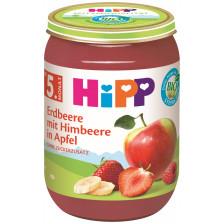 Hipp Bio Erdbeere mit Himbeere in Apfel ab dem 5.Monat 190G