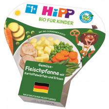 Hipp Bio Gemüse-Fleischpfanne mit Kartoffelwürfeln und Erbsen ab 1+ Jahr 250G
