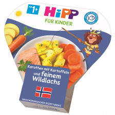 Hipp Karotten mit Kartoffeln und feinem Wildlachs 1+ Jahre 250G