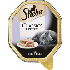 Sheba Classics in Pastete mit Kalb & Huhn 85G