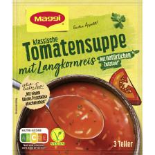 Maggi Guten Appetit Klassische Tomatensuppe mit Langkornreis ergibt 750ML