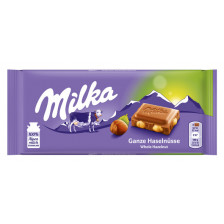 Milka Ganze Haselnüsse Schokolade 100 g