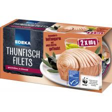 Edeka MSC Thunfischfilets in Olivenöl 2x 80 g