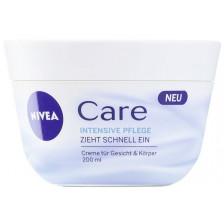 Nivea Care Intensiv Pflege Creme für Gesicht & Körper 200 ml