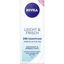Nivea Leicht & Frisch 24h Tagespflege Mischhaut & Normale Haut 50ML