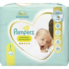 Pampers Premium Protection New Baby Windeln Gr.1 2-5kg 26ST