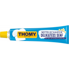 Thomy Delikatess Senf mittelscharf in der Tube klein 100 ml