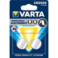 Varta Knopfzelle CR 2025 Lithium 2 Stück