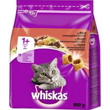 Whiskas 1+ Trocken mit Rind 0,8 kg
