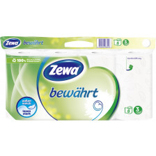Zewa Bewährt Toilettenpapier 3-lagig weiß 8x 150 Blatt
