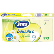 Zewa Bewährt Toilettenpapier Kamille 3-lagig 8x 150 Blatt