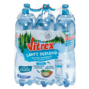 Vitrex Mineralwasser Sanft perlend PET 6x 1,5 ltr
