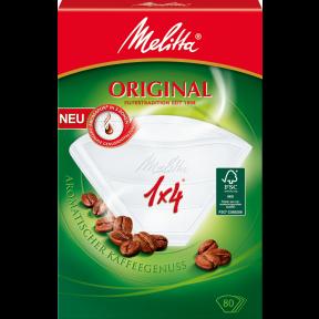 Melitta Kaffeefilter 1x4 Original weiss 80 Stück