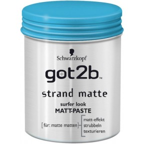 Schwarzkopf got2b Strand Matte, Surfer look Matt-Paste