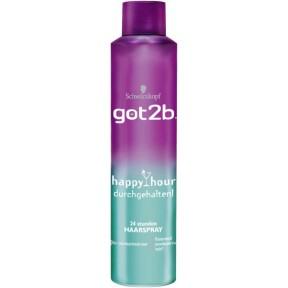 Schwarzkopf got2b 24h Haarspray- happy hour durchgehalten