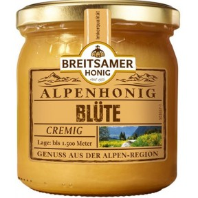 Breitsamer Alpenhonig Blüte cremig 500 g