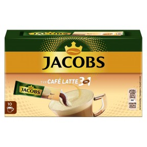 Jacobs 3in1 Typ Café Latte Sticks 10x 12,5 g