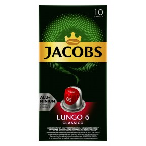 Jacobs Lungo Kapseln 6 Classico 10ST 52g