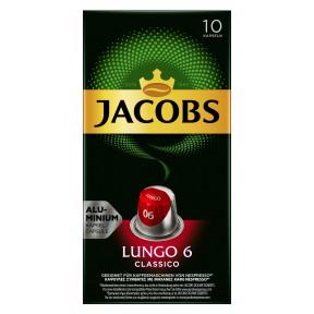 Jacobs Lungo 6 Classico Nespresso kompatible Kapseln 10x 5,2 g