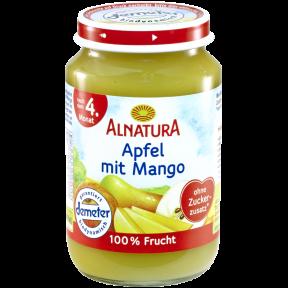 Alnatura Bio Apfel mit Mango, nach dem 4. Monat