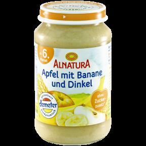 Alnatura Bio Apfel mit Banane und Dinkel, ab dem 6. Monat 190 g