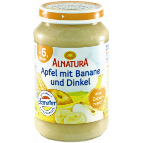 Alnatura Bio Apfel mit Banane und Dinkel, ab dem 6. Monat