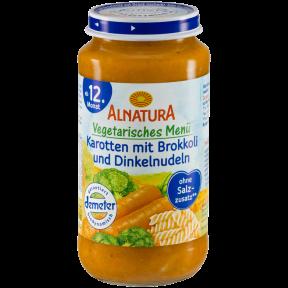 Alnatura Bio Karotten mit Brokkoli und Dinkelnudeln, ab 12. Monaten 250 g