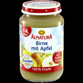 Alnatura Bio Birne mit Apfel, nach dem 4. Monat 190 g