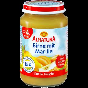 Alnatura Bio Birne mit Marille nach dem 4. Monat 190 g