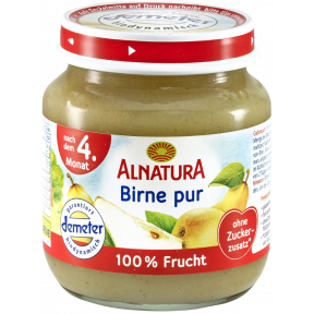 Alnatura Bio Birne pur, nach dem 4. Monat 125 g