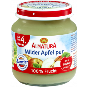 Alnatura Bio Milder Apfel pur, nach dem 4. Monat 125 g