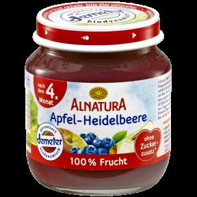 Alnatura Bio Apfel-Heidelbeere, nach dem 4. Monat