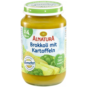 Alnatura Bio Brokkoli mit Kartoffeln, nach dem 4. Monat
