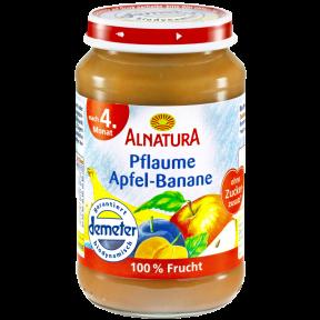 Alnatura Bio Pflaume Apfel-Banane, nach dem 4. Monat 190 g