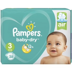 Pampers Baby-Dry Windeln Gr. 3 6-10kg