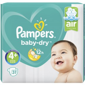Pampers Baby-Dry Windeln Gr. 4+ 10-15kg